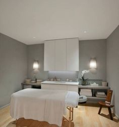 Modern Massage Room Ideas With Grey Walls : House With Massage ...