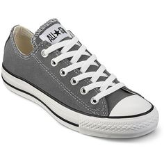 Converse Chuck Taylor® All Star® Oxfords Charcoal ($45) ❤ liked on Polyvore