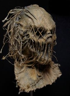 Grim Stitch Factory's unique scarecrow masks are literally wearable art; Creepy Masks, Cool Masks, Creepy Art, Halloween Prop, Scary Halloween Costumes, Scarecrow Mask, Scary Scarecrow, Scarecrow Cosplay, Mascaras Halloween