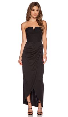 ISLA_CO ISLA & LULU Short Cut Maxi Dress in Black