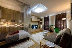 Egyszobás lakás hosszú távú bérbeadásra berendezve - 25m2 nappali és háló egyben, 12m2-es konyha
