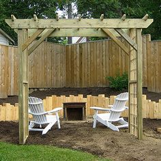 Add an Entry Point- Sikorski built a beautiful arbor that provides an entry to her garden room. She designed it based off a photo she saw in an issue of Better Homes and Garden's Country Gardens magazine.