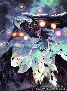 「ラストクロニクル第4弾 救世の交響詩」にて制作させていただいた 「雷魂の大飛竜」です。 重いコスト、動き出すまでの時間の長さが問題ですが、その効果は非常に強力。 コイツ自体は動けないとしても場に出ているだけで常時発生するカウンター効果のお陰で第4弾ではかなりの猛威をふるうのでは・・・ 自分も是非使いたい1枚です。 http://www.last-chronicle.jp/cardsearch/result.php?q%5Btitle%5D=&q%5Bcost_min%5D=&q%5Bcost_max%5D=&q%5Btext%5D=&q%5