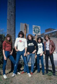Def Leppard in 1978?!  Must Be ......  Rick Savage (Guitarist to Bassist), Tony Kenning (Drummer), and Pete Willis (Guitarist) as the Original, Then Joe Elliott joined as the Lead Singer in November 1977 and Finalised the Band Name, Followed by Steve Clark Joining in January 1978