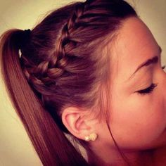 cute #ponytail #braid #hair
