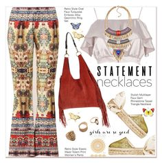 """Collared! Statement Necklaces"" by paculi ❤ liked on Polyvore featuring River Island, Paperself, bohochic and statementnecklaces"