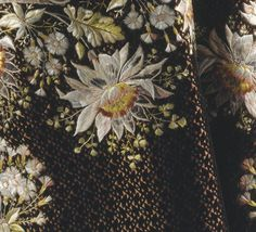 Close-up detail of the embroidery on a court suit, 1774-1793.