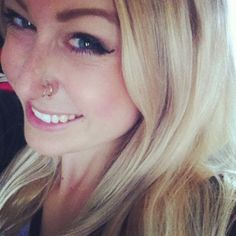 double nose piercing. If I ever got it done, I'd only keep hoops in.