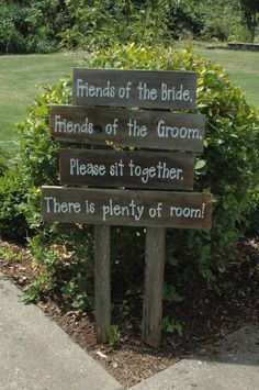 FAMILY WEDDING sign Friends of the Bride OR Come as you are Stay as long as you can via Etsy