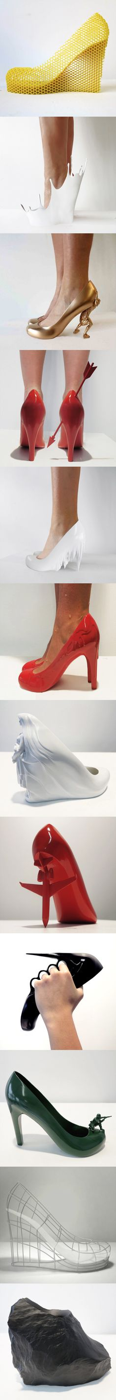 12 Shoes for 12 Lovers, by Sebastian Errazuriz