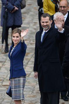 Queen Letizia of Spain Photos: King Felipe Of Spain and Queen  Letizia Of Spain On Official Visit In France : Day 1