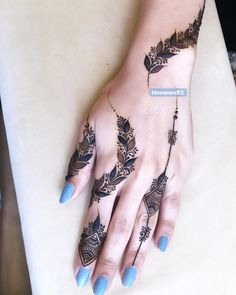 Instagram post by @mooaneo93 • May 8, 2019 at 9:27am UTC Pretty Henna Designs, Latest Henna Designs, Indian Henna Designs, Henna Designs Feet, Finger Henna Designs, Modern Mehndi Designs, Mehndi Designs For Fingers, Wedding Mehndi Designs, Henna Tattoo Designs