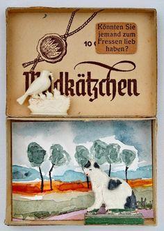 mano kellner, project 2015,  kunstschachtel nr 13/2015, wildkätzchen (sold)