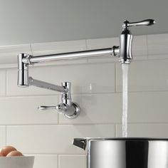 Found it at Wayfair - Delta Double Handle Wall Mount Other Pot Filler Faucet
