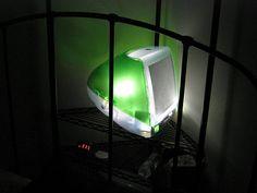 I once had a light-up Apple logo (yeah, the retro coloured and striped version) up in my office. After seeing this iMac light, it pales in comparison. I have used one of these machines 'back in the day', but now, I think retro-fitting them with lights is the way to go…