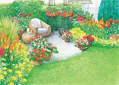 Gartenecke mit Sitzplatz