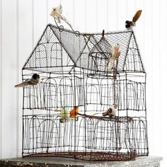 Palace of the Birds wire birdhouse  http://www.anangelatmytable.com