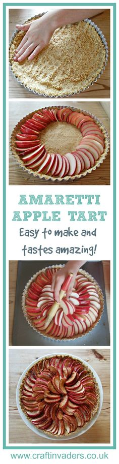 Amaretti Apple Tart is my go to dessert recipe when I want to impress. It looks great and tastes amazing. Everyone who tries it loves it!