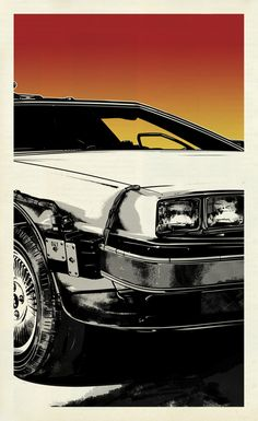 """""""Black To The Future"""" poster series by Suffix Movie Poster Art, Poster Series, Delorean Time Machine, Science Fiction, Bttf, Car Posters, Film Serie, Back To The Future, Grafik Design"""