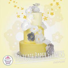 Tutorial Delicate Paper Flowers, cake