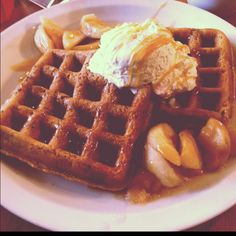 Gingerbread Waffles @ Lucky's Cafe-Tremont,Ohio