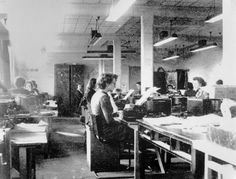 Codebreakers at Bletchley Park, c 1942. -- High quality art prints, canvases, postcards, mugs -- SSPL Prints