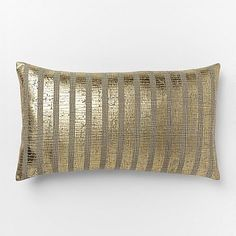 Metallic Sovereign Stripe Pillow Cover #westelm