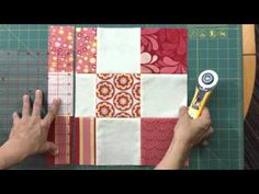 How to do a disappearing 9-patch variation block - video tutorial - This is a variation on the more traditional disappearing 9-patch block - TeresaDownUnder YouTube