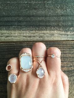 Moonstone jewelry are perfect option for bridal accessory. Sirciam Jewelry's organic style will be amazing with garden bohemian wedding <3