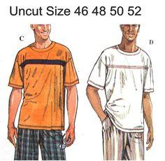 Uncut Mens Sewing Pattern Sweatshirt Pants TShirt Shorts Separates Simplicity 9326 Size 46 48 50 52