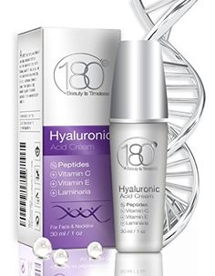 TODAY'S DEALS - 180 Cosmetics - Forte Hyaluronic Acid Cream with Peptides and Vitamin C (Maximum Strength) - Best Anti Aging Cream for Women -- Check out the image by visiting the affiliate link Amazon.com on image. Best Hyaluronic Acid Serum, Hyaluronic Acid Cream, Best Skincare Products, Best Face Products, Vitamin C, Stark Sein, Best Anti Aging Creams, Anti Aging Supplements, Tone It Up