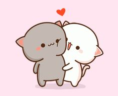 With Tenor, maker of GIF Keyboard, add popular Cartoon animated GIFs to your conversations. Cute Cartoon Images, Cute Couple Cartoon, Cute Cartoon Wallpapers, Cartoon Ideas, Cat Couple, Cute Love Pictures, Cute Love Gif, Cute Cat Gif, Funny Pictures