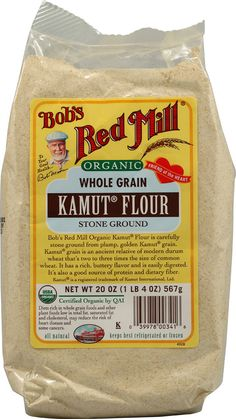 This flour has a midly sweet, buttery flavor and can easily replace all the flour in cake, bread or cookie recipes without changing their texture or flavor. Plus, it has three times more fiber than white flour and a lighter texture than whole-wheat flour. A great way to curb the gluten and increase the nutrients in all your baking. A good source for protein and dietary fiber! Try:   Bob's Red Mill Kamut® Flour