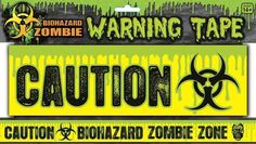 Amazon.com: Biohazard Zombie Warning Tape
