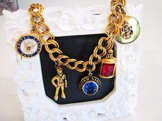 Vintage US Navy Charm Bracelet by vintageexchange on Etsy, $59.00