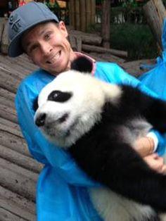 Brian Littrell (and panda)