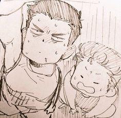 Mitsui and hanamichi Slam Dunk Anime, Miyagi, Wonderwall, Basketball Teams, Short Prom, Manga Games, Art Tips, Cloud, Prom Dresses