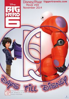 Days till Disney: 69 days Big Hero 6 Movie # 69 - November 2014 -  #TTDAVCDN Count down to YOUR next Disney vacation at: http://www.tiggertravels.com/pl_1057_Disney%20and%20Pixar%20themed%20Vacation%20Countdown%20numbers.htm  #disneycountdown #vacationcountdown  #Disney #vacation #TiggerTravels #TiggerTravelsSite #TiggerTravelsDotCom  #TiggersTravels