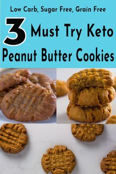 3 keto peanut butter cookies you have to try!. You have crunchy, chewy and crunchy chewy something for everyone Keto Peanut Butter Cookies, Keto Cookies, Sugar Cookies, Almond Cookies, Pumpkin Cookies, Shortbread Cookies, Holiday Cookies, Chocolate Cookies, Fat Bombs