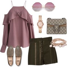 A fashion look from April 2017 by glirendree featuring Chicwish, Proenza Schouler, FitFlop, Gucci, Marjana von Berlepsch i Michael Kors