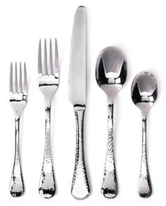 The textured look of the Lafayette Flatware Set from Ginkgo will be a handsome addition to your table setting. Great for every day, but also an attractive addition to special meals, the stainless steel set can be enjoyed for years to come. Flatware Storage, Flatware Set, Stainless Steel Dishwasher, Stainless Steel Flatware, Best Knife Sharpener, Types Of Knives, Coffee Spoon, A Table