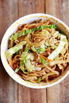 (via Onion Cabbage and Carrot Rice Noodles Stir Fry - Noodles...   #healthy #vegetarian #recipes Find more healthy recipes @ http://standouthealth.com