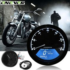 Motorcycle Accessories Parts Speedometer LCD Back Light Universal Digital Motorcycle Odometer Tachometer Speedometer for Honda