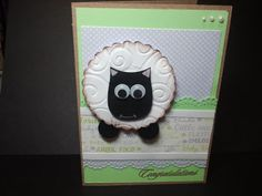 Crafting with Sarah: Punch art Animal Lamb baby card Owl Punch, Punch Art, Baby Girl Cards, Baby Boy, Sheep Cards, Lamb, Card Ideas, Card Making, Cricut