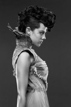"VARIETY Magazine EXCLUSIVE: 'Hunger Games: Catching Fire' Cast Photos: Johanna ""...Still, I think the cold tone of the black-and-white with the amazing costumes that Trish created feel very couture and classic."" - Lionsgate Marketing Chief Tim Palen"