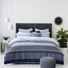 Quilt Covers - Buy Quilt Cover Sets & Doona Covers from Adairs Bedroom Themes, Bedroom Ideas, Bedrooms, Quilt Cover Sets, Linen Bedding, Bed Linen, Boy Room, Bedroom Furniture, Quilts