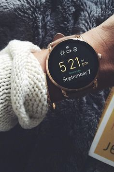 Sweater weather calls for arm candy accessories (or a new rose-gold tech gadget). Add this Q Wander smartwatch to your wrist and you'll never want to leave the house without it again. http://amzn.to/2srmb87