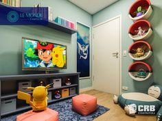 Decorating a Game Room Boys Bedroom Decor, Bedroom Themes, Home Bedroom, Bedroom Ideas, Pokemon Decor, Pokemon Room, Gamer Room, Cool Rooms, New Room
