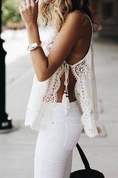 White lace, white everything