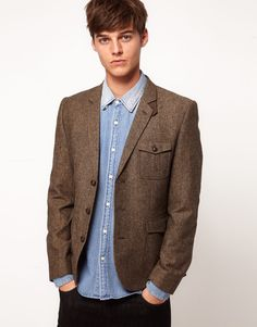 ++ tweed blazer